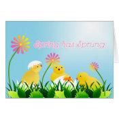 Cute Spring Chicks Card
