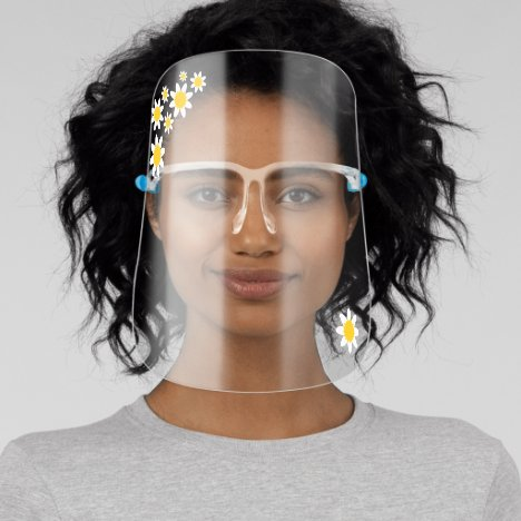 Cute Spring Daisy Flowers, Adults Face Shield