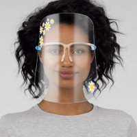Cute Spring Daisy Flowers Face Shield