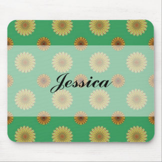 Cute Spring Daisy Pattern Mouse Pad