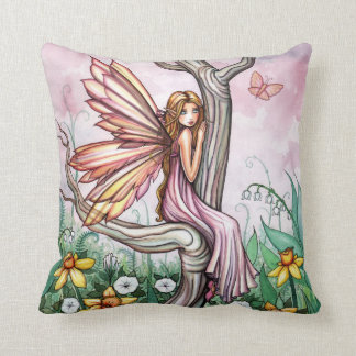 Cute Spring Flower Fairy in Daffodils Pillow