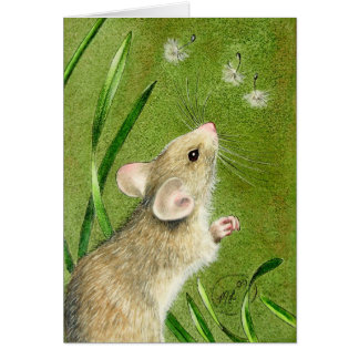 Cute Spring Mouse Card