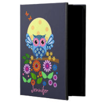Cute spring Owl & custom Names Case For iPad Air