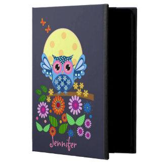 Cute spring Owl & custom Names Case For iPad Air