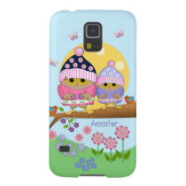 Cute spring owls and custom name galaxy s5 case