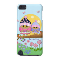 Cute spring owls and custom name iPod touch (5th generation) cover