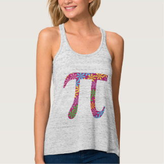 Cute Spring Pi - Flowery Colorful Pi Day Gift Tank Top