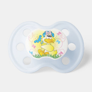 Cute Spring Time Duck Pacifier