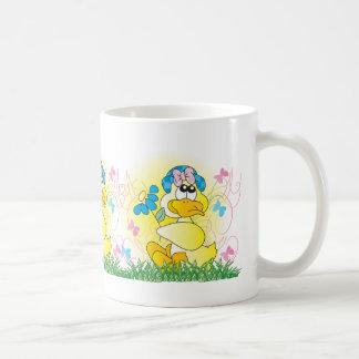 Cute Spring Yellow Easter Duck Coffee Mug