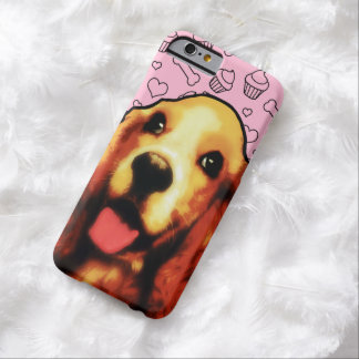 Cute Springer Spaniel Dog with Heart Pattern Barely There iPhone 6 Case
