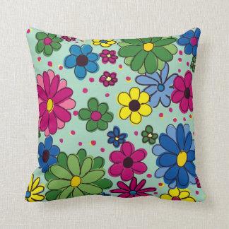 "Cute ""Springtime Morning"" Floral American MoJo Throw Pillow"