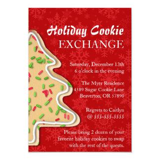 Cute Sprinkle Sugar Cookie Exchange Holiday Invite