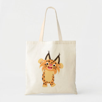 Cute Spunky Cartoon Bobcat Bag