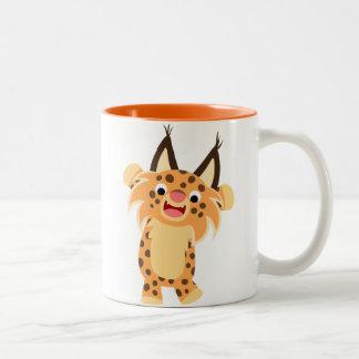 Cute Spunky Cartoon Bobcat Mug