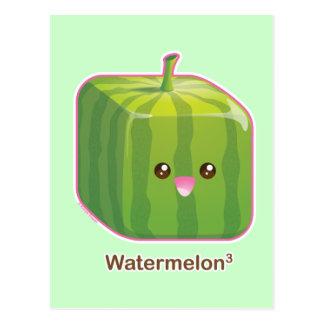 Cute Square Watermelon Post Cards