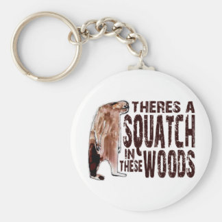 Cute SQUATCH IN THESE WOODS - Finding Bigfoot Gear Basic Round Button Keychain