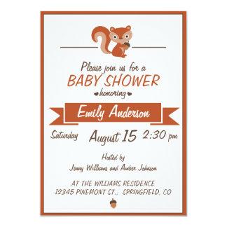 Cute Squirrel - Baby Shower Invitation