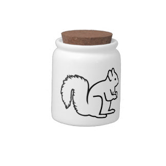 Cute squirrel candy jars