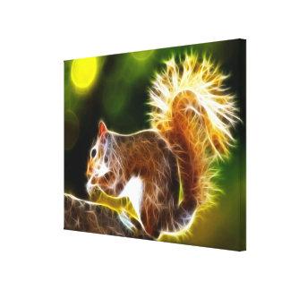 Cute Squirrel Stretched Canvas Print