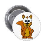Cute Squirrel Cartoon Button