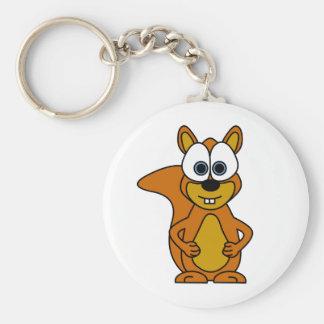 Cute Squirrel Cartoon Keychain