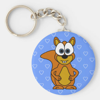 Cute Squirrel Cartoon Keychain