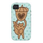 Cute Squirrel Case-Mate Iphone 4 Tough Cover
