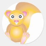 Cute Squirrel Classic Round Sticker