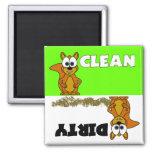 Cute Squirrel Clean / Dirty Dishwasher Magnet