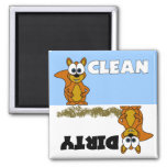 Cute Squirrel Clean / Dirty Dishwasher Magnet