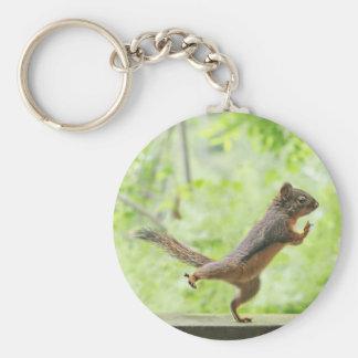 Cute Squirrel Doing Tai Chi Keychain