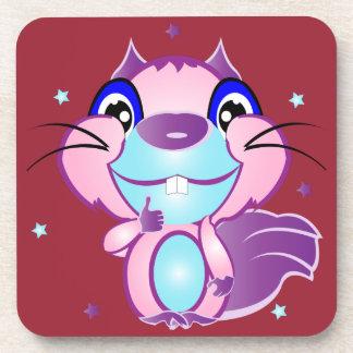 Cute Squirrel Drink Coaster