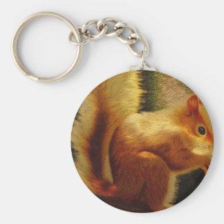 Cute Squirrel Embroidery Keychain