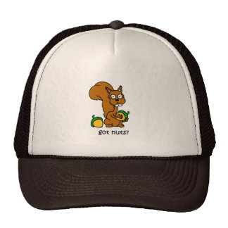 Cute squirrel got nuts trucker hat