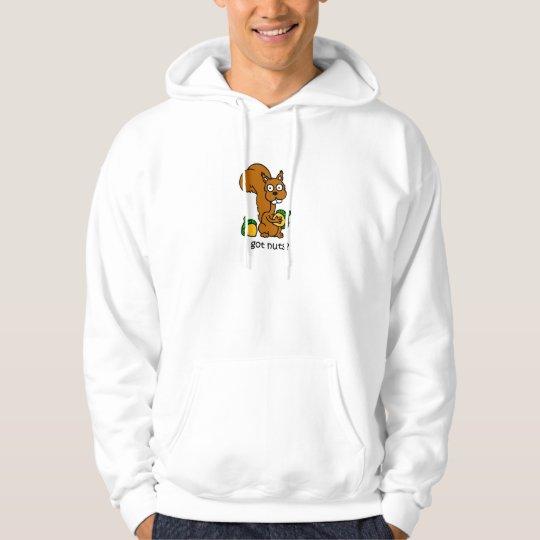 Cute squirrel got nuts hoodie