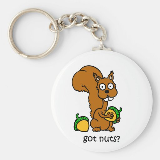 Cute squirrel got nuts key chain