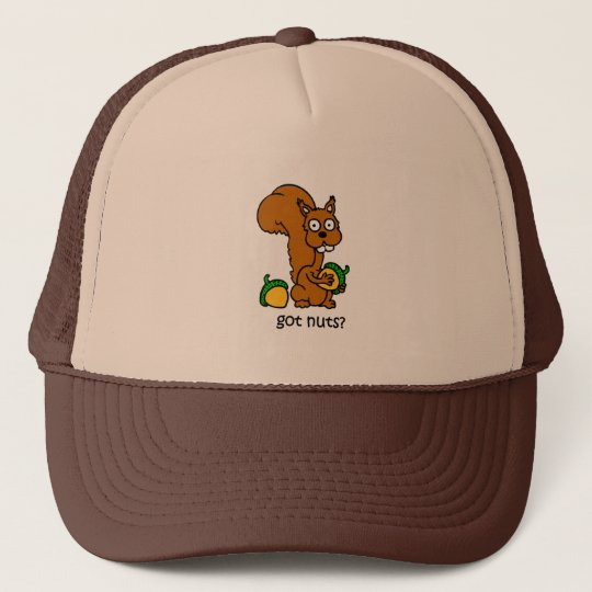 Cute squirrel got nuts trucker hat