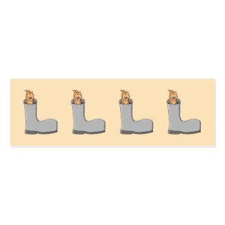 Cute Squirrel in a Boot. Business Card Templates
