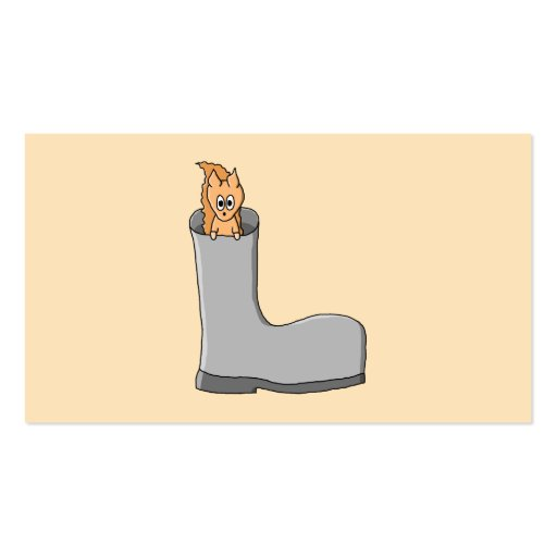 Cute Squirrel in a Boot. Double-Sided Standard Business Cards (Pack Of 100)