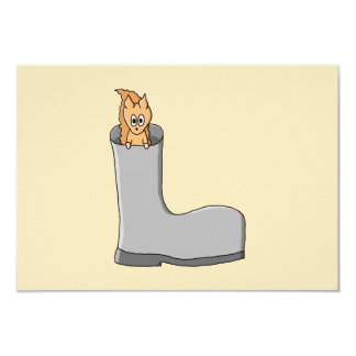 Cute Squirrel in a Boot. Card