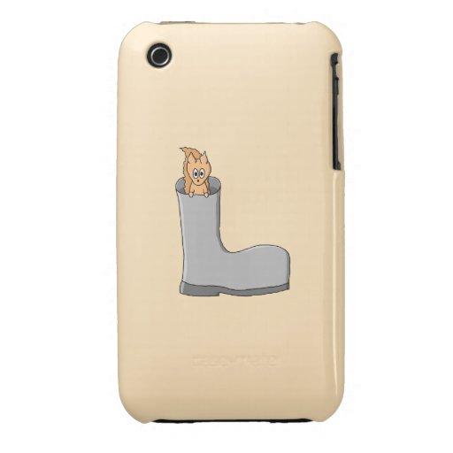 Cute Squirrel in a Boot. Case-Mate iPhone 3 Cases