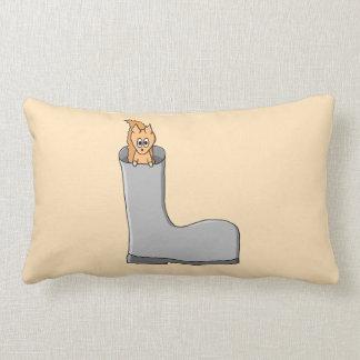 Cute Squirrel in a Boot Throw Pillows