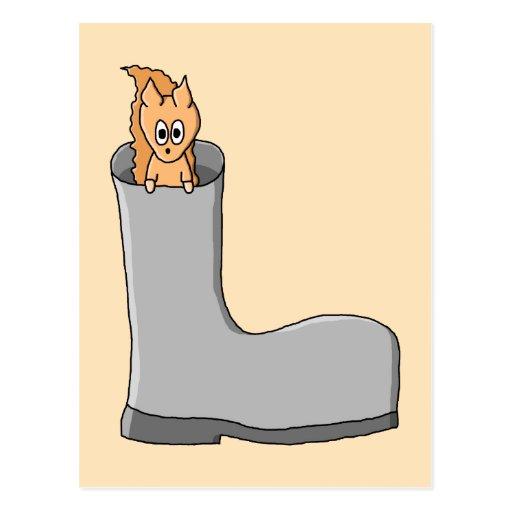 Cute Squirrel in a Boot. Post Card