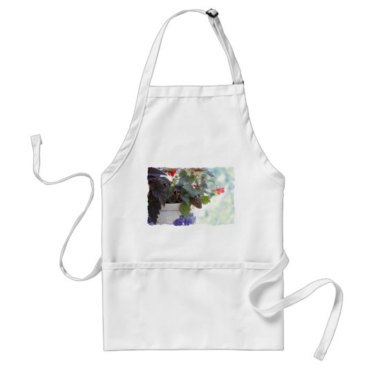 Cute Squirrel in a Flower Pot Adult Apron