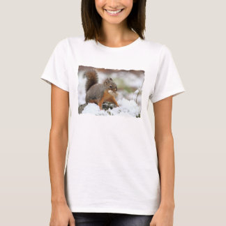 Cute Squirrel in Snow with Peanut T-Shirt