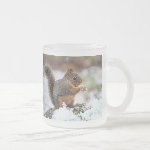 Cute Squirrel in the Snow Photo Mug