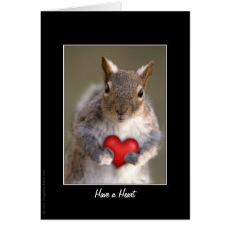 Cute Squirrel Lover Card (Greeting or Note)