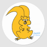 Cute Squirrel Lovers Squirrel Cartoon Stickers