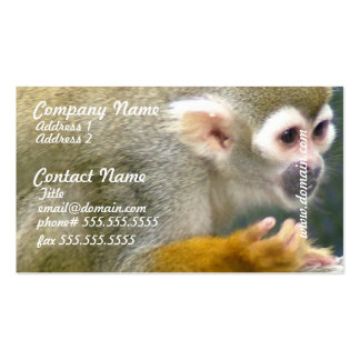 Cute Squirrel Monkey Business Cards