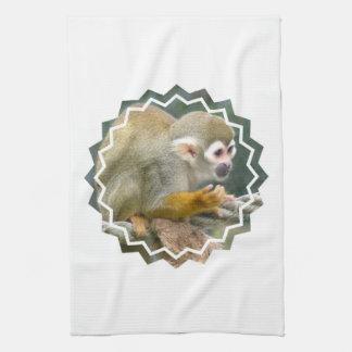 Cute Squirrel Monkey Kitchen Towel